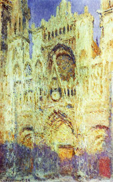 Картина Клода Моне Руанский собор в полдень