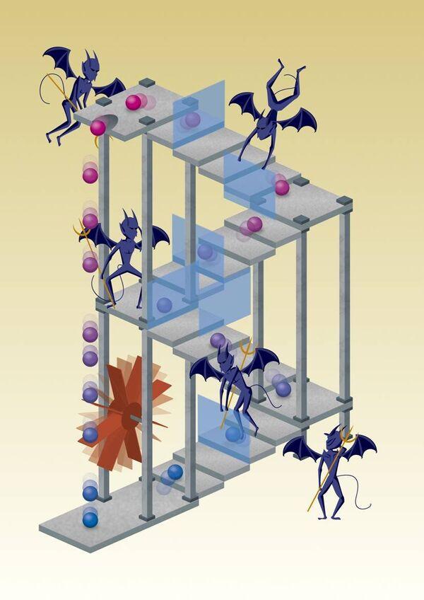 Демоны Максвелла извлекают энергию из теплового движения частиц
