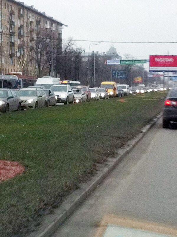 Пробка на Ленинском проспекте