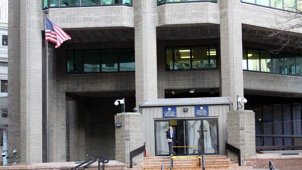 Вход в здание федеральной прокуратуры Южного округа Нью-Йорка