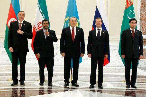 Совместное фотографирование глав государств- участников Третьего Каспийского саммита