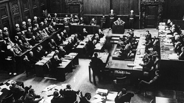 Одно из заседаний Международного военного трибунала во время Нюрнбергского процесса. Архивное фото