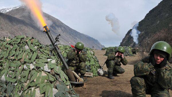 Артиллеристы на учениях