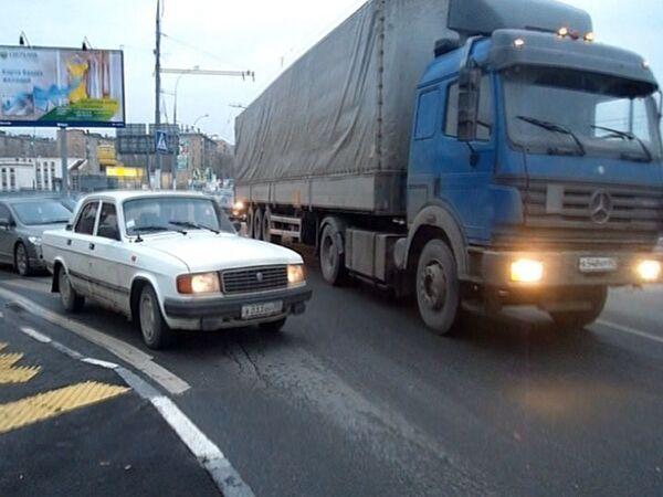 Сложная развязка Каширское шоссе на пересечении с Коломенским проездом