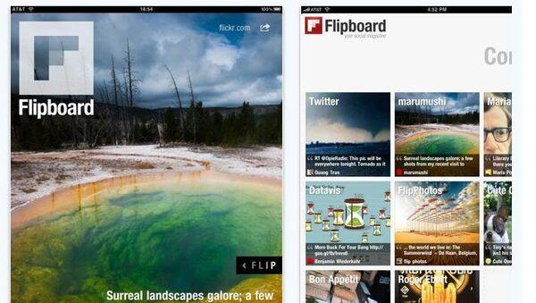 Приложение Flipboard для чтения журналов на iPad