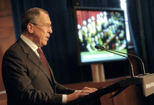 Глава МИД России С.Лавров на открытии Мемориального комплекса Нюрнбергского процесса