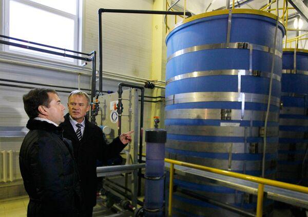 Дмитрий Медведев посетил муниципальное унитарное предприятие Сыктывкарский водоканал