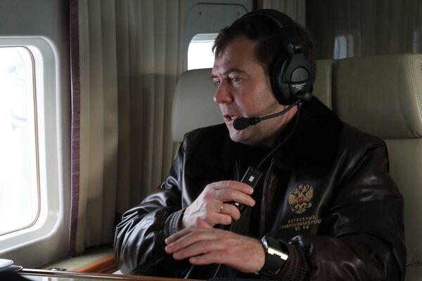 Президент РФ Дмитрий Медведев прибыл в Нижегородскую область