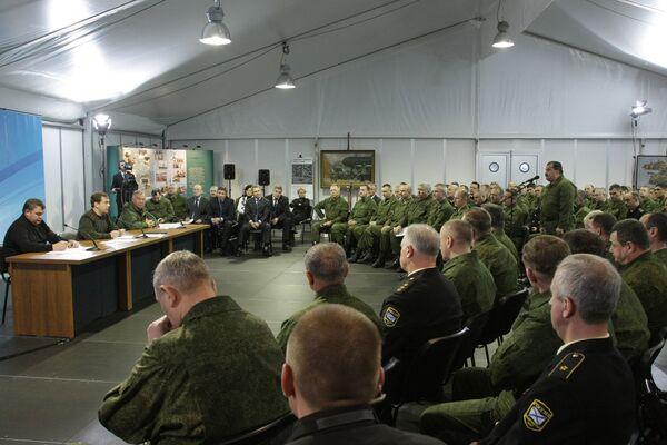 Президент РФ Д.Медведев посетил полигон Гороховецкий в Нижегородской области