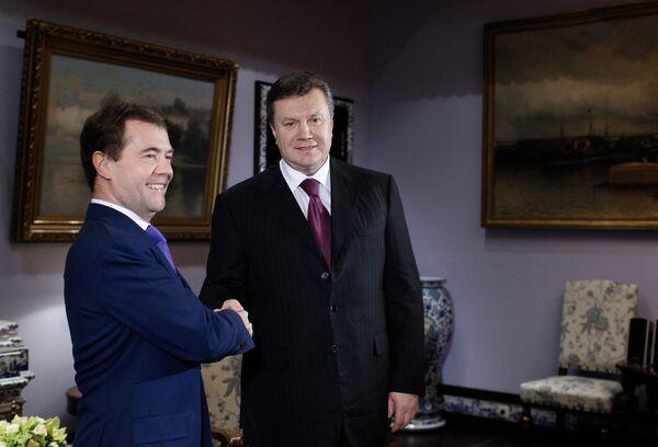 Встреча Дмитрия Медведева и Виктора Януковича