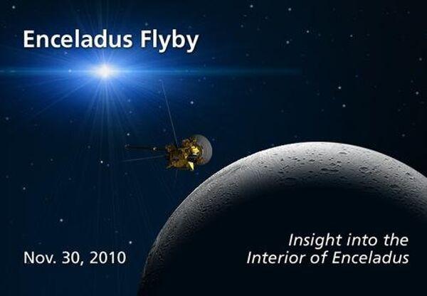 Сближение Кассини с Энцеладом