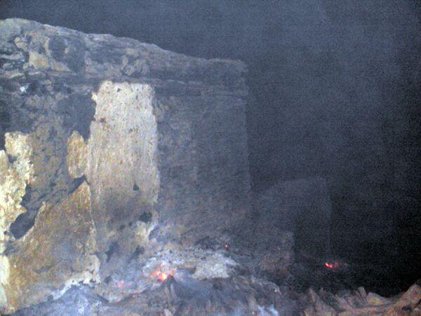 Пожар в дагестанском селе Цибари