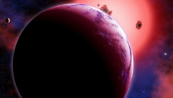 Внесолнечная планета GJ 1214b глазами художника