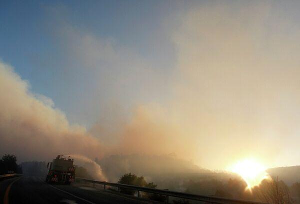 Лесной пожар в Израиле