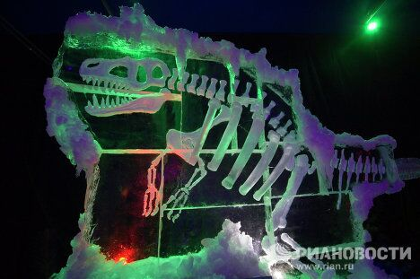 Открытие музея льда в парке Сокольники в Москве