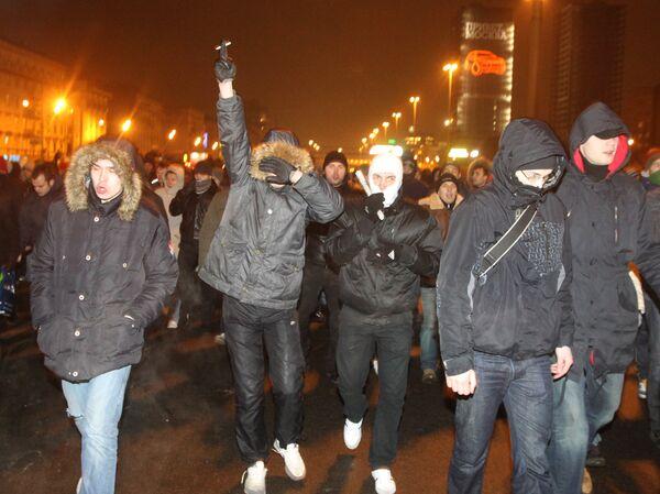 Акция фанатов Спартака в Москве