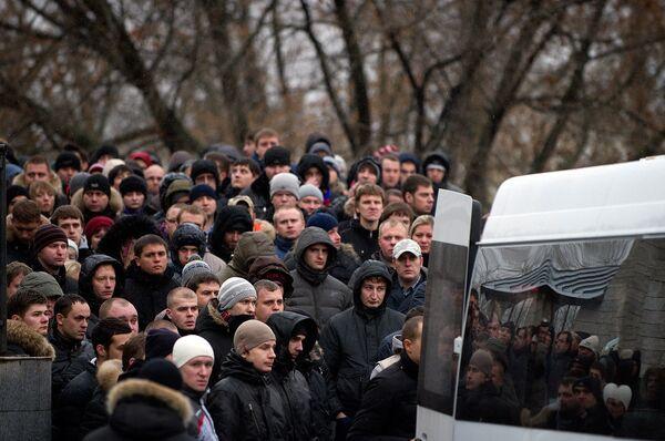 Похороны болельщика Спартака Егора Свиридова