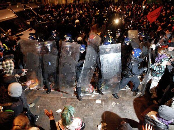 Акции протеста в Лондоне против повышения платы за обучение
