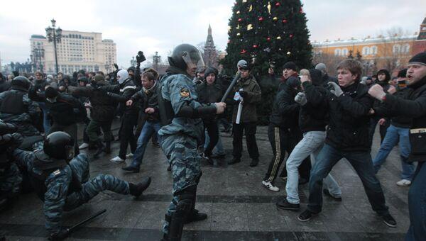Беспорядки на Манежной площади 11 декабря 2010. Архивное фото