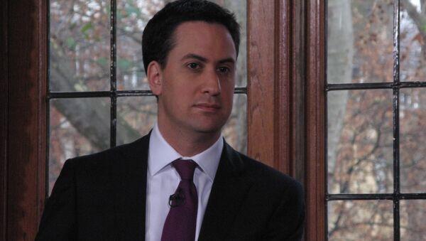 Лидер Лейбористской партии Великобритании Эд Милибэнд. Архивное фото