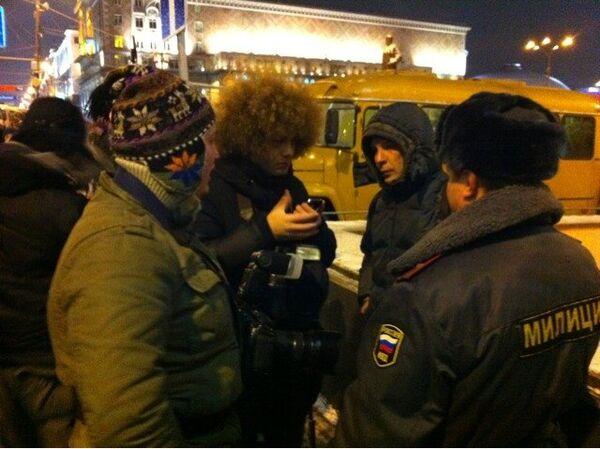 На Триумфальной площади в Москве. Архив