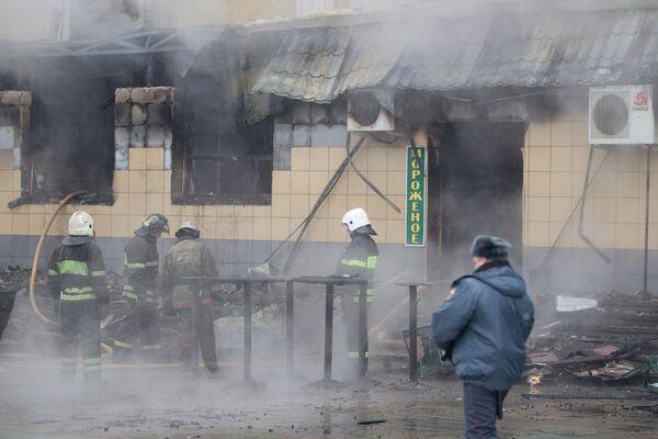 Пожар на Белорусском вокзале в Москве