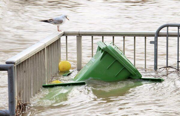 Наводнения в немецких городах вдоль реки Рейн