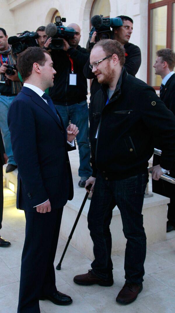 Дмитрий Медведев и Олег Кашин