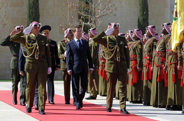 Президент РФ Дмитрий Медведев в Аммане
