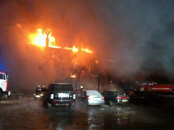 Пожар ЦМ Европа в Уфе