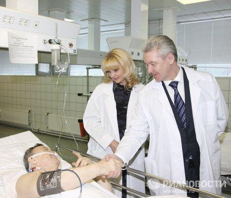 Мэр Москвы Сергей Собянин посетил пострадавших в результате взрыва в аэропорту Домодедово