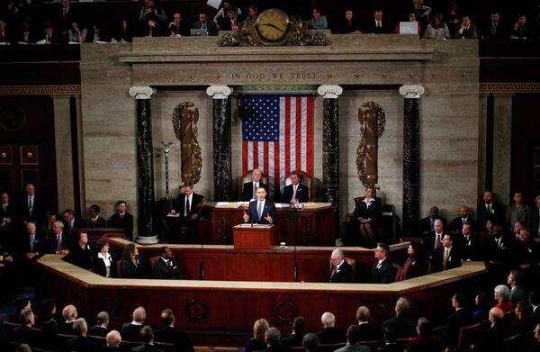 Выступление Барака Обамы с ежегодным посланием к обеим палатам конгресса