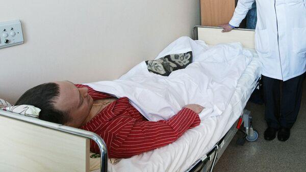 Пострадавший в результате теракта в аэропорту Домодедово. Архив