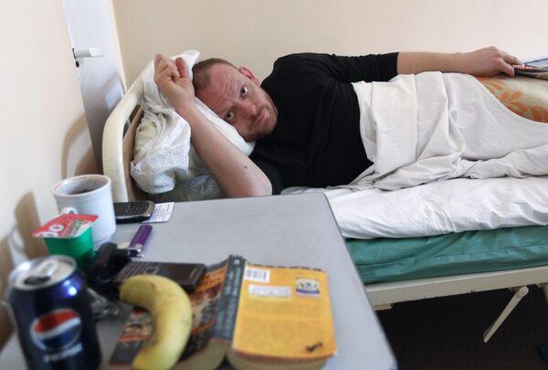 Пострадавшие во время теракта в аэропорту Домодедово в городской клинической больнице № 64. Архив