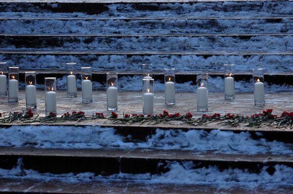 На Пушкинской почтили память погибших в Домодедово