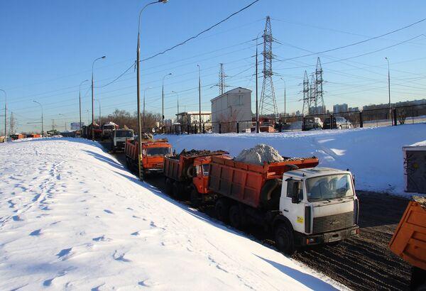 Снегоплавильня в Москве