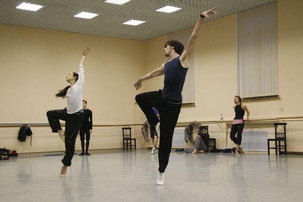 Диана Вишнева и Константин Зверев на репетиции балета Анжелена Прельжокажа Парк