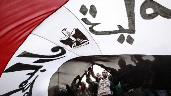 Флаг Египта. Архивное фото