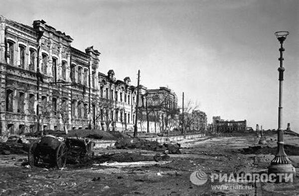 Разрушения в Сталинграде во время Великой Отечественной войны