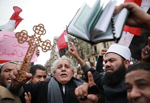 Демонстрация оппозиции на площади Тахрир в Каире. Архив