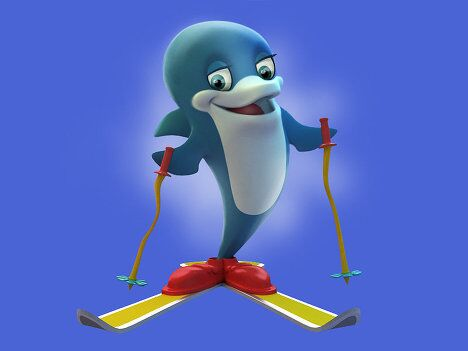 Талисманы Олимпиады-2014 - Дельфин