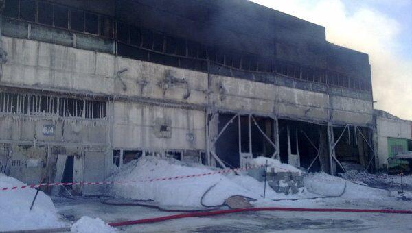 Сгоревший склад в Перми