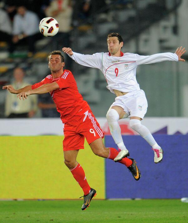Игровой момент матча России - Иран