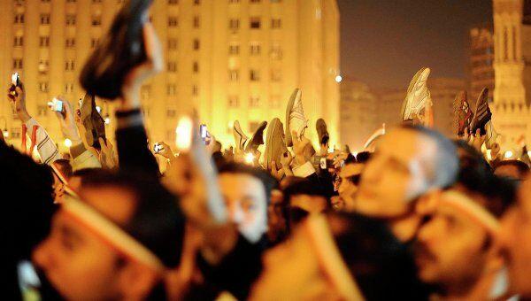 На площади Тахрир после выступления Хосни Мубарака