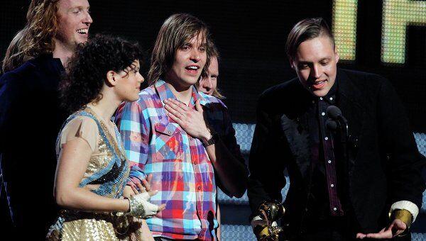 Группа Arcade Fire на вручении Grammy