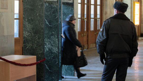 Усиление мер безопасности на Московском вокзале в Санкт-Петербурге