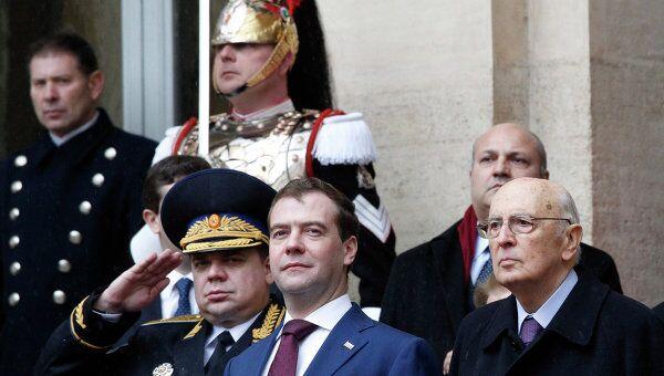 Президент РФ Д.Медведев прибыл с официальным визитом в Италию