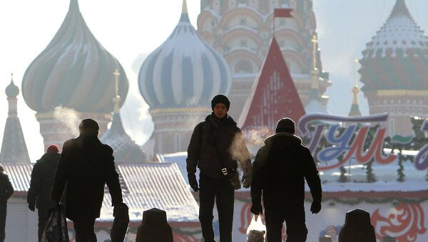 Морозы в Москве. Архив