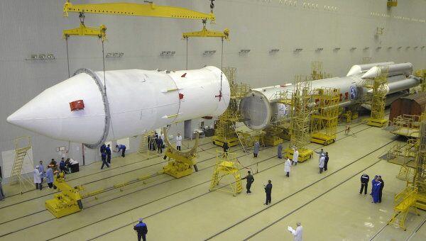 Подготовка к запуску РН Протон-М