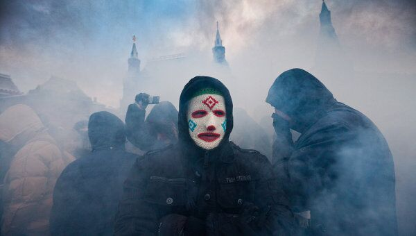 Акция на Манежной площади в память об убитом Егоре Свиридове